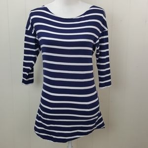 Zara WB Striped Organic Cotton Top